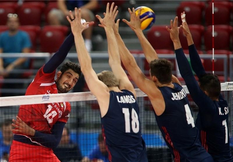 باخت3گیمه وتشریفاتی والیبال ایران به تیم دوم آمریکا