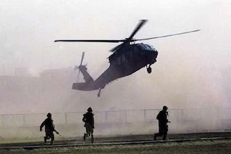 کمک هلیکوپترهای آمریکا به داعشیها
