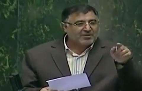 شعرخوانی پرحاشیه یک نماینده مجلس