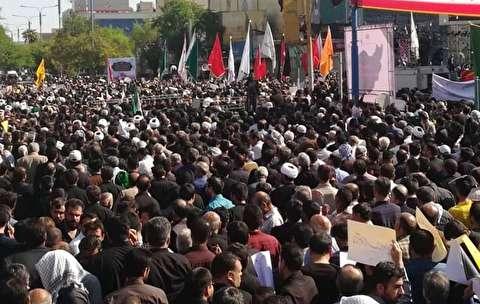 تشییع باشکوه پیکر شهدای ترور خوزستان