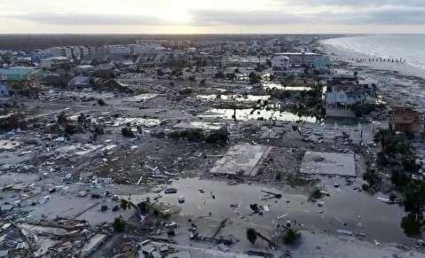 خسارات گسترده طوفان مایکل در آمریکا