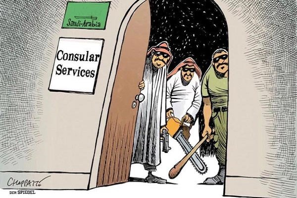 کاریکاتور اشپیگل درباره قتل «جمال خاشقجی»