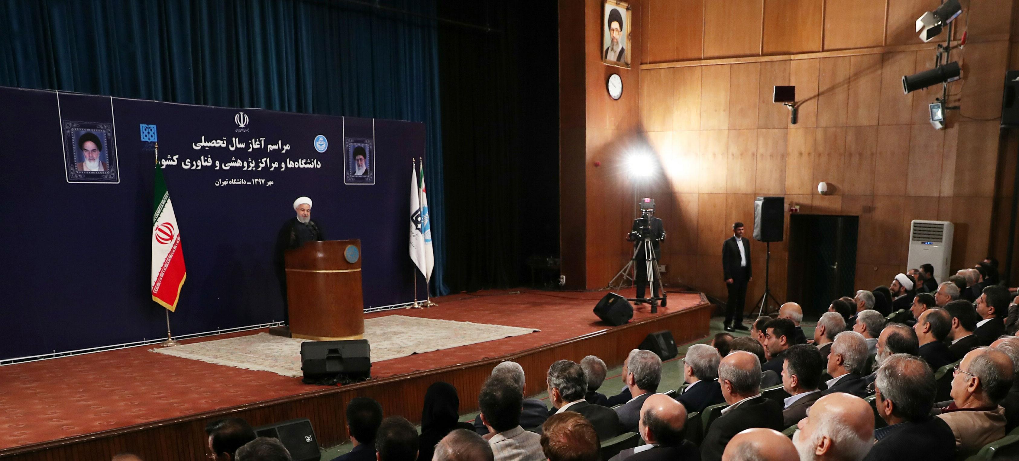 روحانی: دانشگاهها دولت را نقد کنند / به محض انتخاب دولت در سال 92، قیمت دلار کاهش یافت