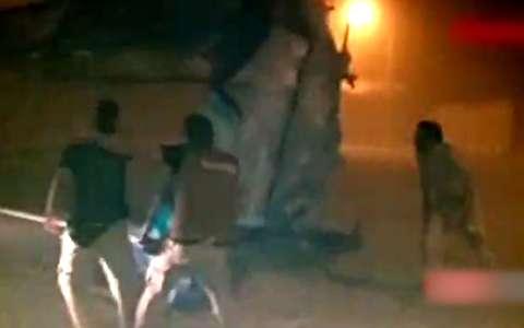 نجات زائر گرفتار در طوفان سنگین در مرز مهران