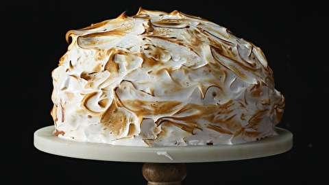 طرز تهیه کیک آلاسکای پخته شده