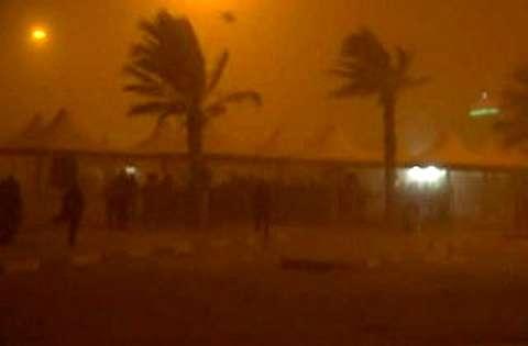 هوای طوفانی مهران در شب گذشته