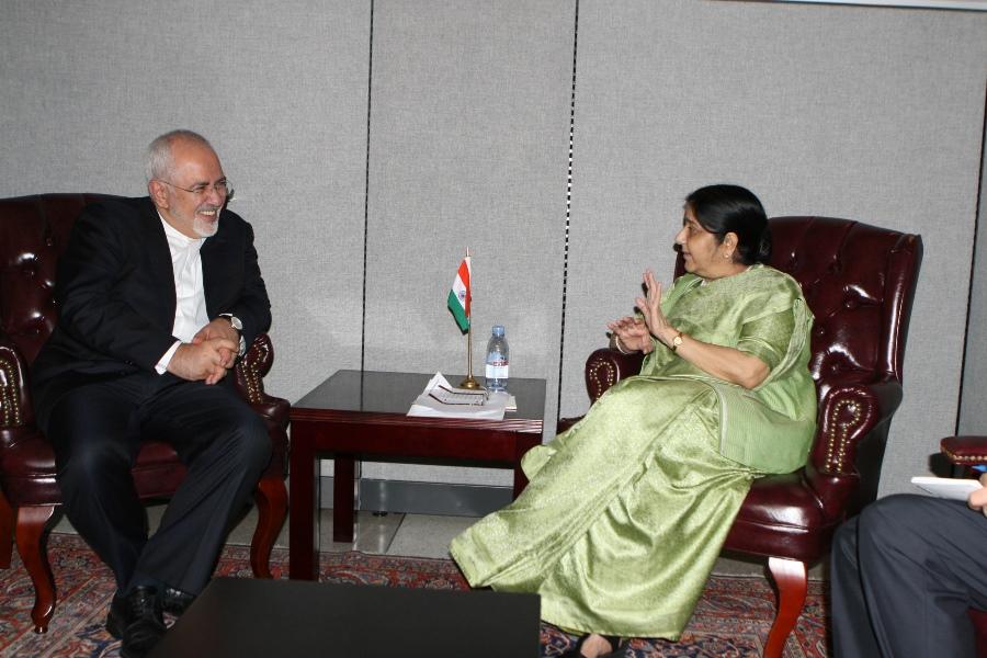 وزیران خارجه ایران و هند دیدار کردند