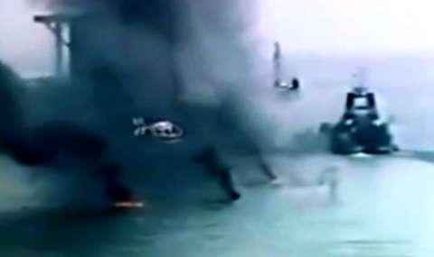تصاویر تازه از درگیریهای ایران و آمریکا در خلیج فارس