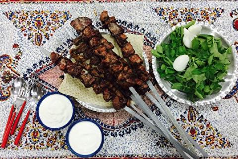 طرز تهیه کباب دل مرغ
