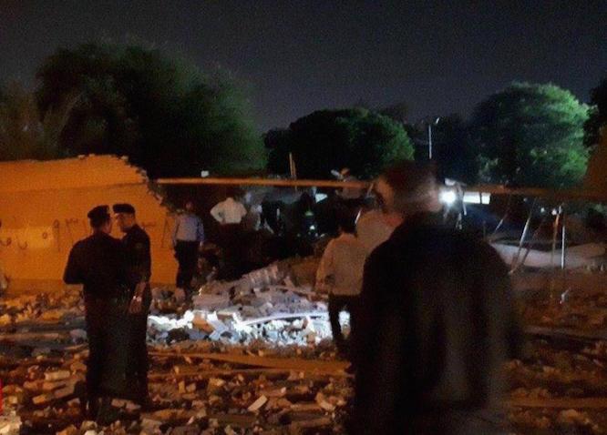 941594 554 تخریب بخشی از ورزشگاه تختی اهواز براثر انفجار گاز