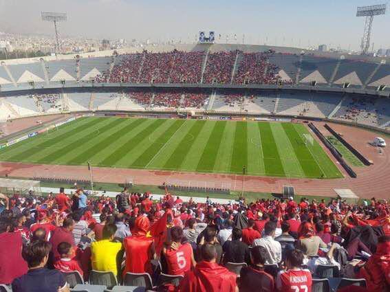 ورزشگاه آزادی شش ساعت مانده تا بازی تاریخی+عکس