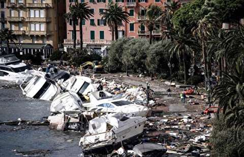 افزایش شمار قربانیان توفان و سیل در ایتالیا