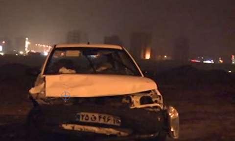 تصادف زنجیرهای 30 خودرو در اتوبان قزوین