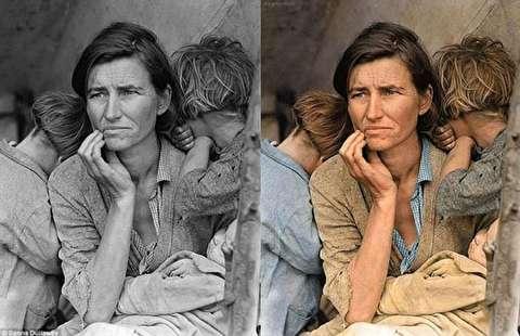 چگونه هنرمندان عکسهای قدیمی را رنگ میکنند؟