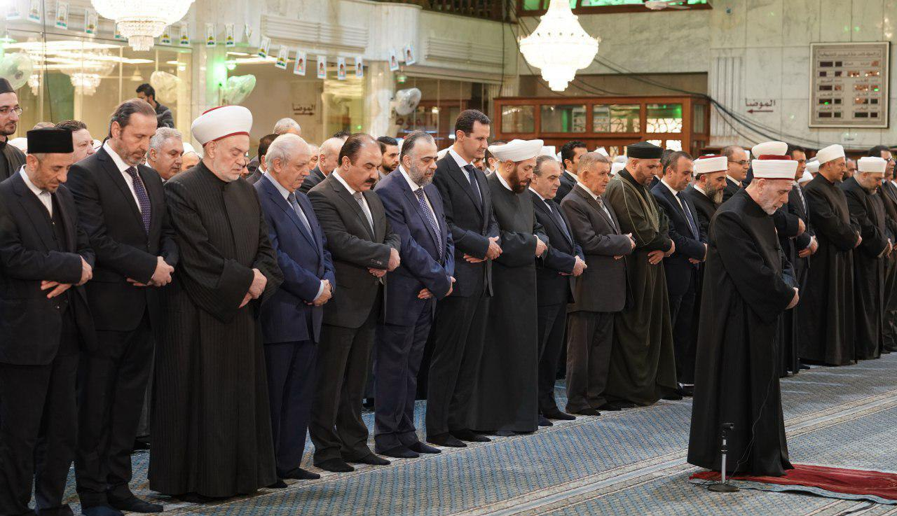 شرکت بشار اسد در جشن میلاد رسول اکرم (ص)
