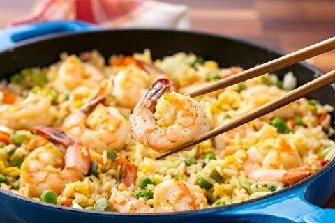 دستور پخت میگوی سرخ شده با برنج