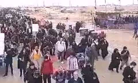 تردد زوار اربعین در پایانه مرزی مهران