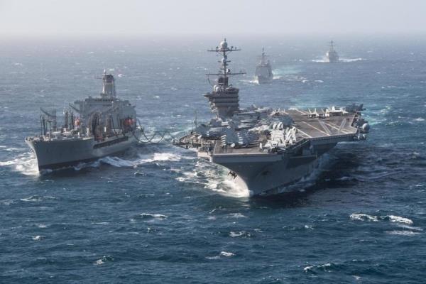 ورود ناوگروه ضربتی آمریکا به آبهای خلیج فارس