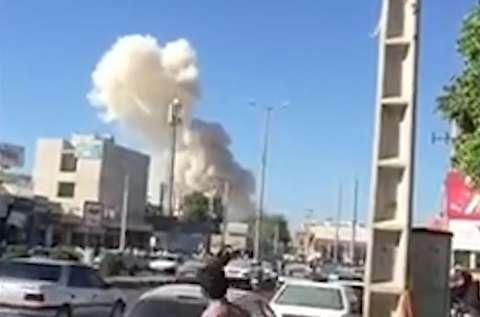 لحظات انفجار مقابل نیروهای انتظامی چابهار