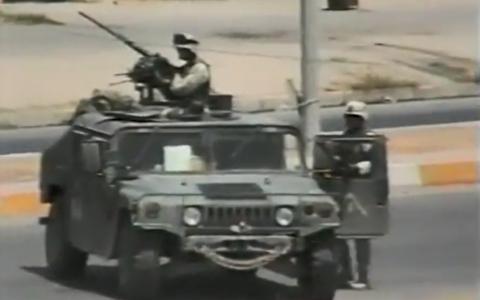 حمله به مخفیگاه پسران صدام حسین