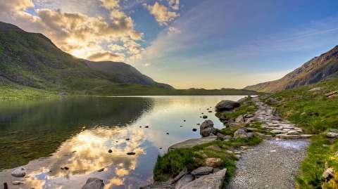 غروب آفتاب در پارک ملی اسنودونیا