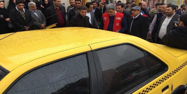 تاکسی سواری شهردار تهران
