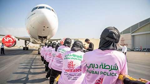 زنانی که یک بوئینگ 777 را صد متر کشیدند
