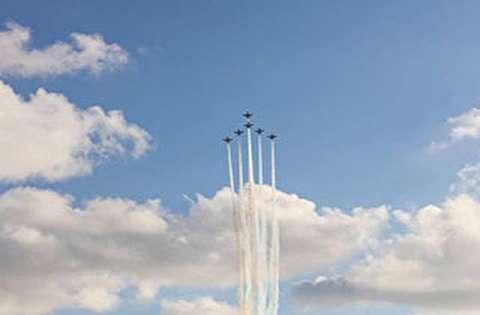 نمایش جنگندههای ایرانی در نمایشگاه هوایی کیش