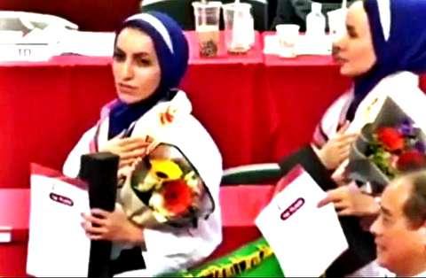 روایت تکواندوکاران از پخش سرود شاهنشاهی