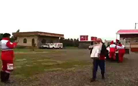 امدادرسانی هوایی به سیل زدگان گلستان