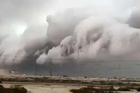 ابرهای سوپرسل در آسمان جنوب ایران
