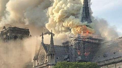 آتش سوزی کلیسای نوتردام از ابتدا تا انتها