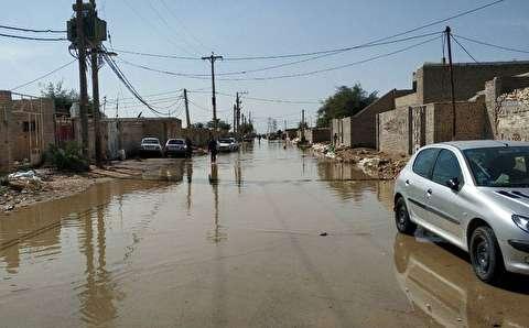 پسزدگی فاضلاب در محله عین دو اهواز