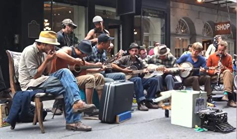 اجرای موسیقی بلوز در خیابانهای نیواورلئان