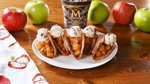 طرز تهیه تاکو پای سیب