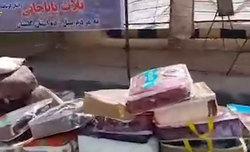 کمک زلزلهزدگان ثلاث باباجانی به سیلزدگان گلستان