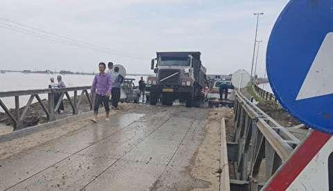 پل آهنی تازه تاسیس گرگان به آق قلا