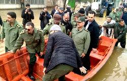 فرمانده سپاه در مناطق سیلزده گلستان