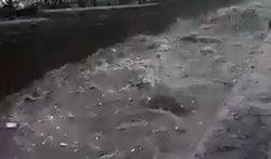 طغیان مسیل بلوار ابوذر تهران