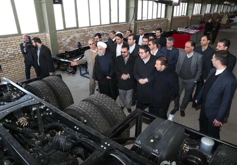 رونمایی از نخستین کامیون ایرانی «چاپار»