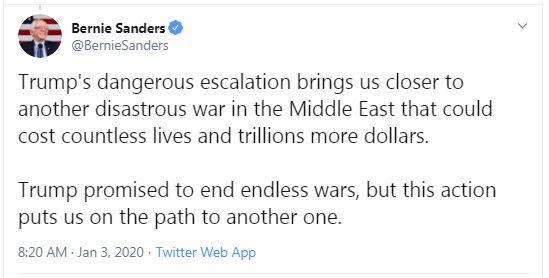 واکنش روسیه و چین به ترور سردار سلیمانی/ مقام آمریکایی: در وضعیت جنگ با ایران هستیم/ فرانسه: اقدام آمریکا درست همان چیزی بود که از آن هراس داشتیم