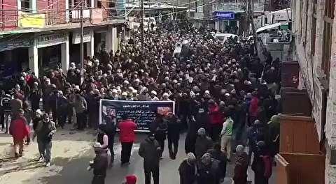 تظاهرات در کشمیر در پی شهادت سردار سلیمانی