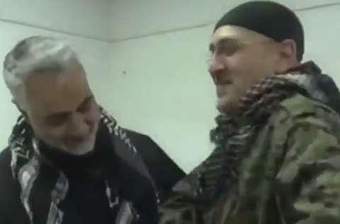 روضه خوانی سردار سلیمانی در سوریه