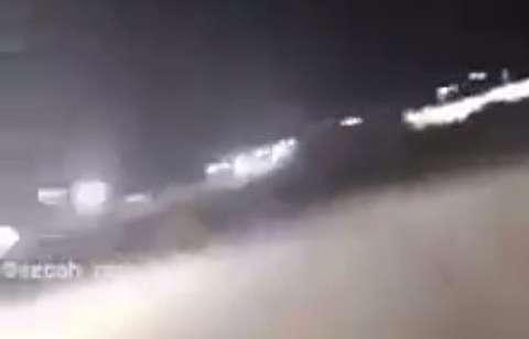 لحظه برخورد خمپاره به اطراف سفارت آمریکا در عراق