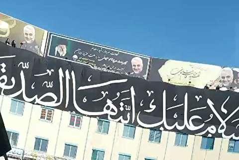 شعار انتقام در تشییع پیکر حاج قاسم در کرمان