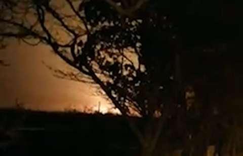 لحظه سقوط بویینگ ۷۳۷ اوکراین در شهریار