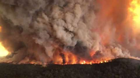 گستردگی آتش سوزی استرالیا از آسمان