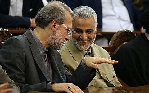 رییس مجلس در منزل شهید سردار سلیمانی