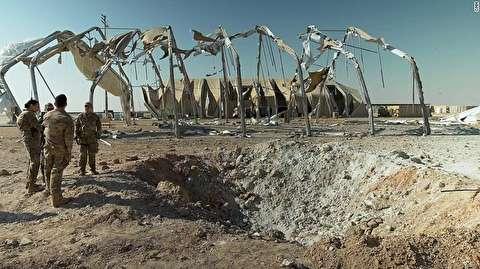 پایگاه عین الاسد پس از اصابت موشکهای ایران