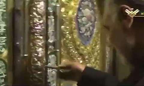 حاج قاسم سلیمانی در حرم حضرت زینب